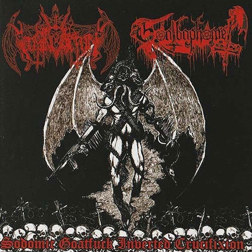 Nihil Domination / Goatbaphomet - Sodomic Goatfuck Inverted Crucifixion (CD)