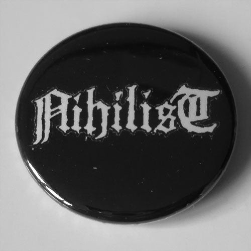 Nihilist - White Logo (Badge)