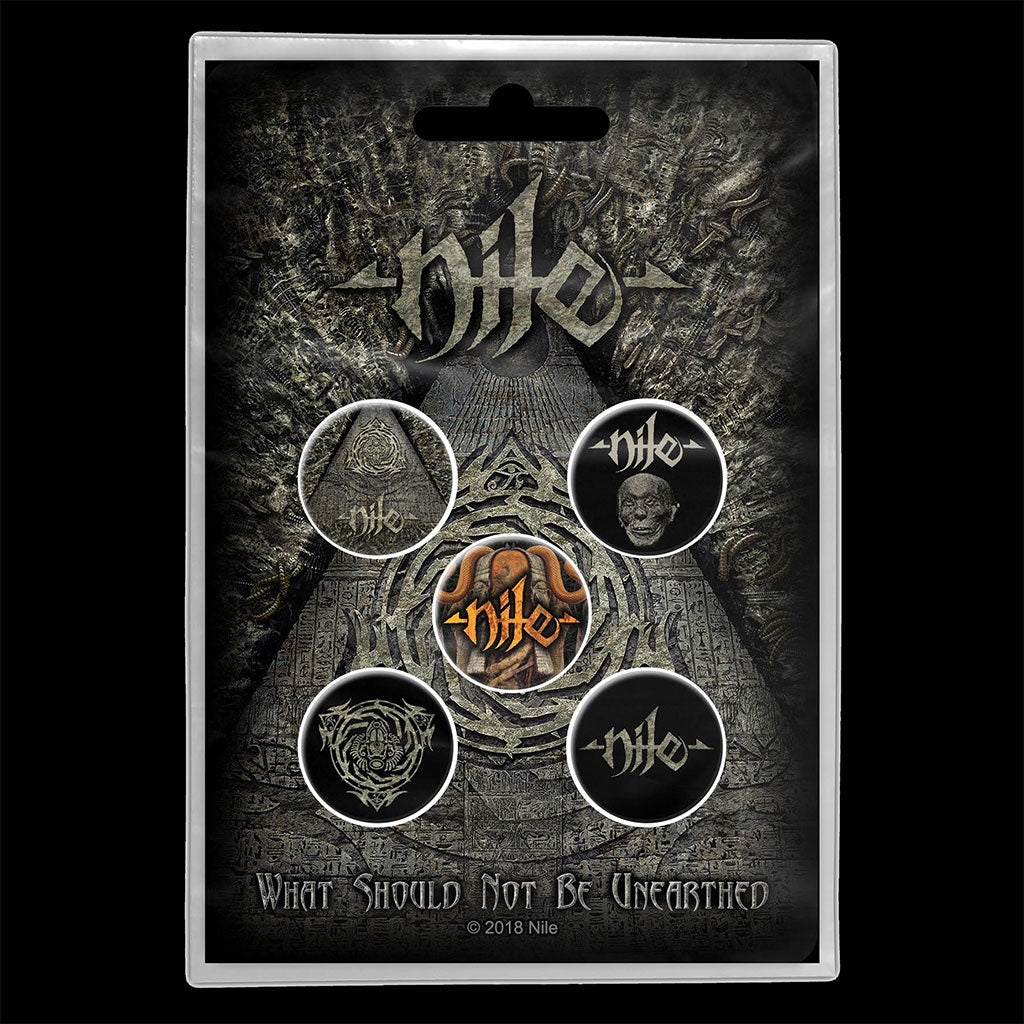 Nile - What Should Not Be Unearthed (Badge Pack)