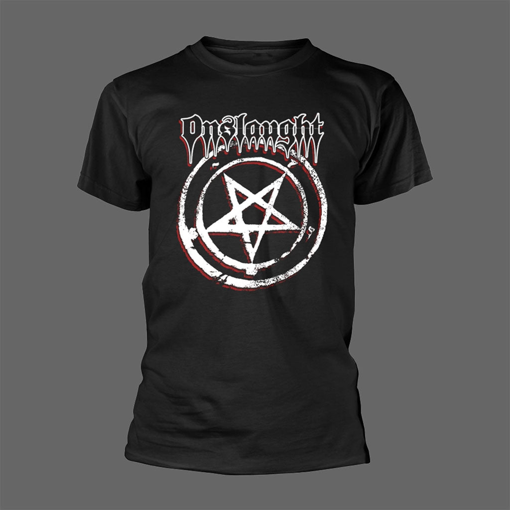 Onslaught - Logo & Pentagram (T-Shirt)