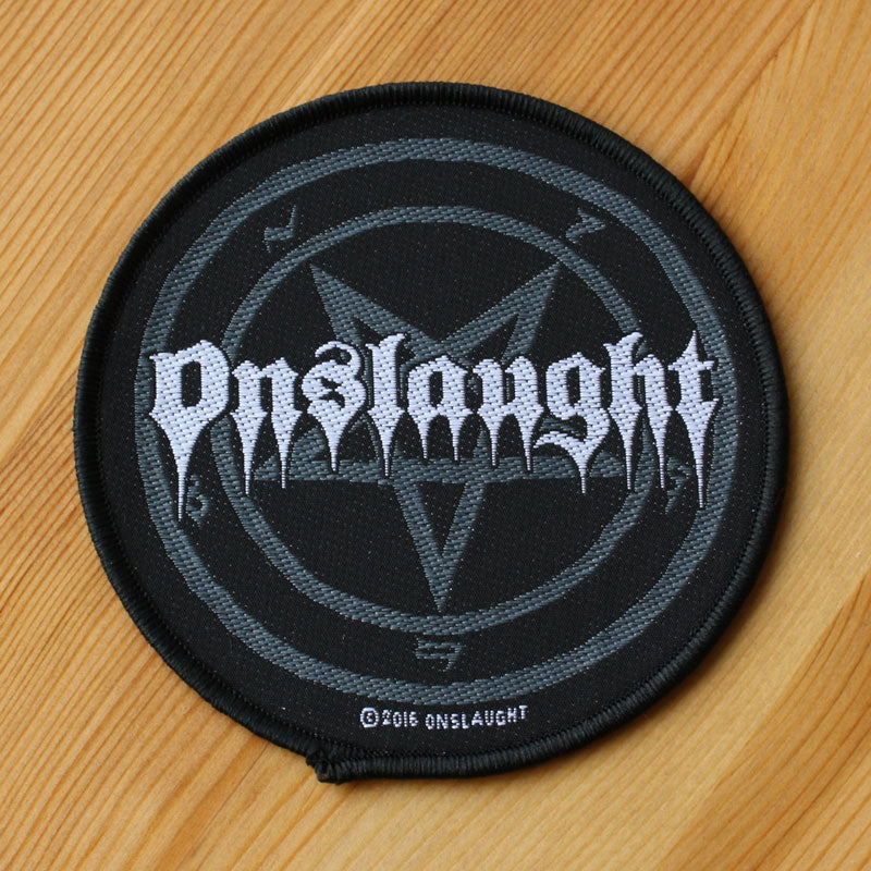 Onslaught - Logo & Pentagram (Woven Patch)
