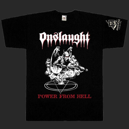Onslaught Power From Hell T Shirt Todestrieb Records