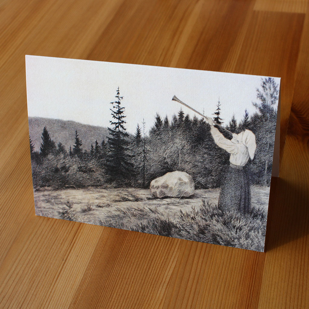 Op under Fjeldet toner en Lur (Greetings Card)