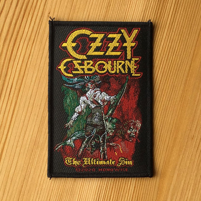 Ozzy Osbourne - The Ultimate Sin (Woven Patch)