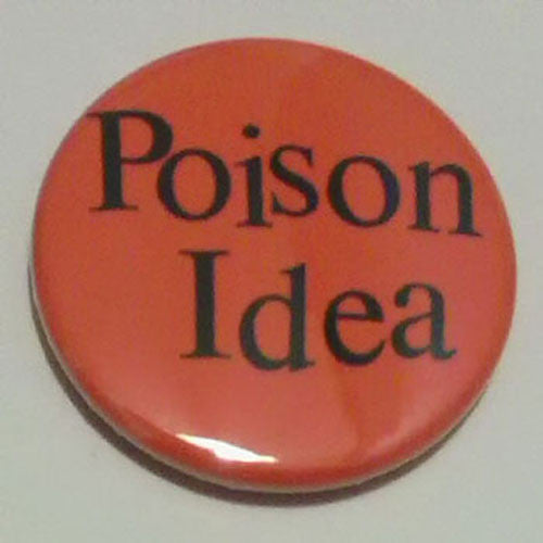 Poison Idea - Logo (Black on Red) (Badge)