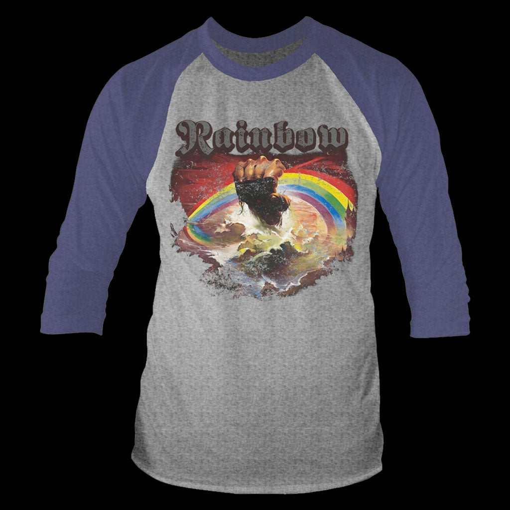 Rainbow - Rising (Distressed) (3/4 Sleeve T-Shirt)