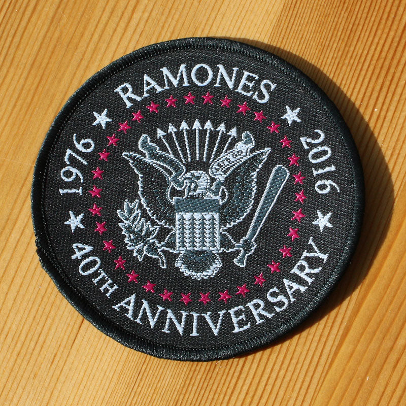 Ramones - 1976-2016 40th Anniversary Seal (Woven Patch)