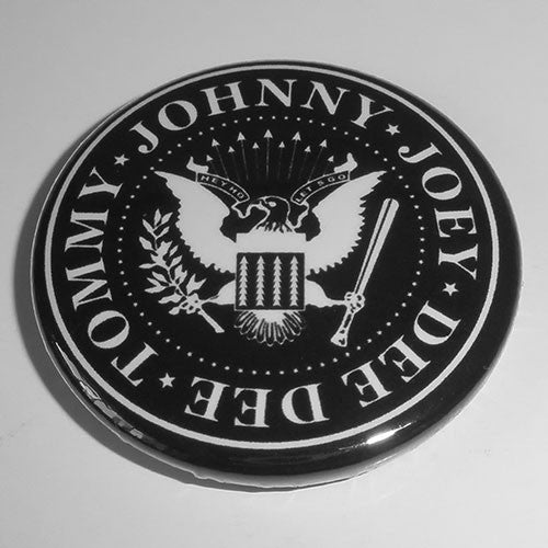 Ramones - White Logo Seal (Badge)
