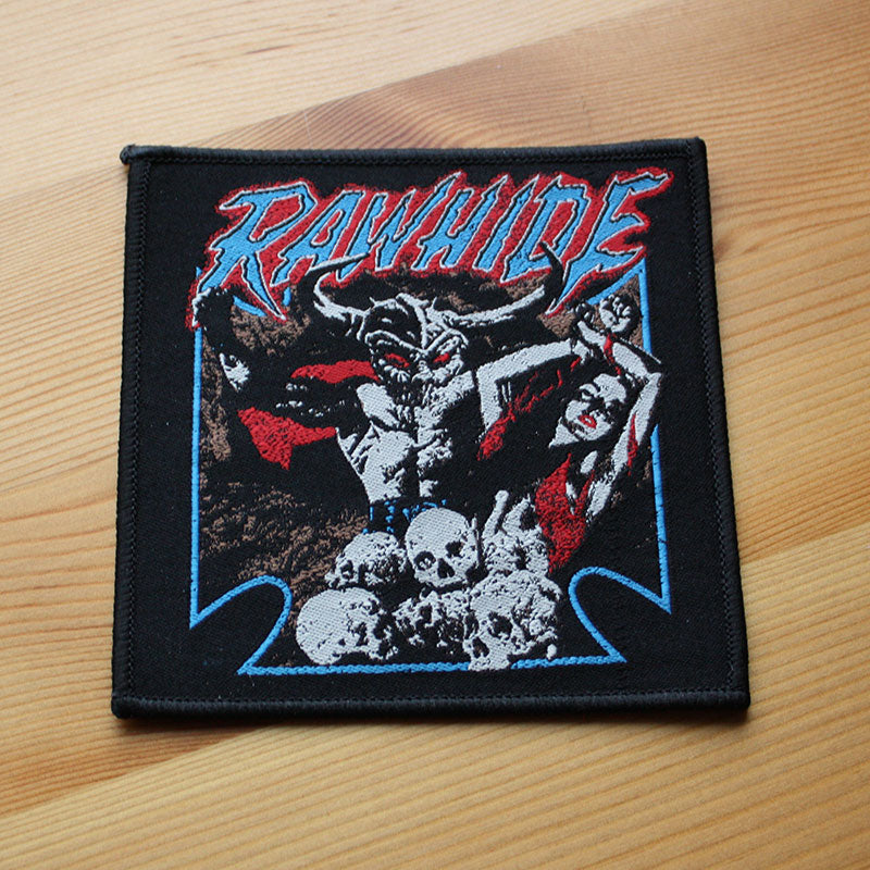 Rawhide - Blue Iron Cross (Woven Patch)
