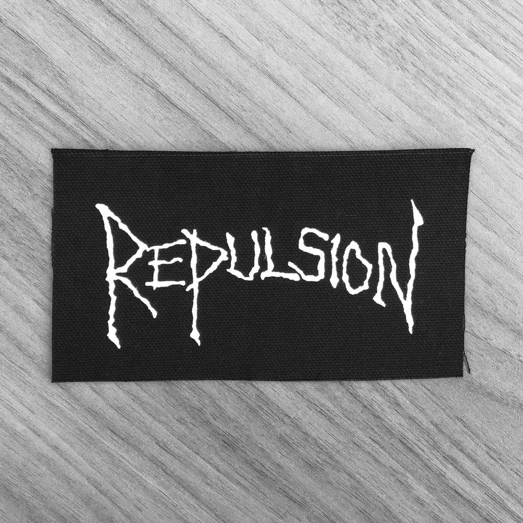 Repulsion - White Logo (Printed Patch)