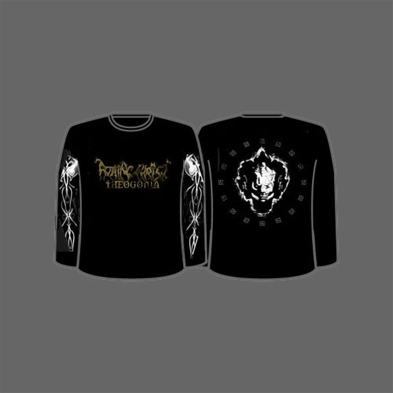Rotting Christ - Gold Logo / Theogonia (Long Sleeve T-Shirt)