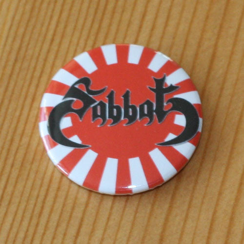 Sabbat - Black Logo Rising Sun (Badge)