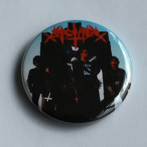 Sarcofago - Red Logo / Band (Badge)