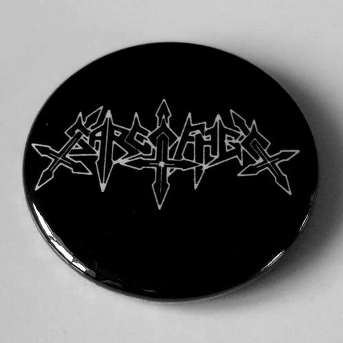 Sarcofago - White Outline Logo (Badge)