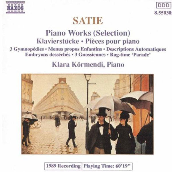 Satie - Piano Works (Selection) (CD)
