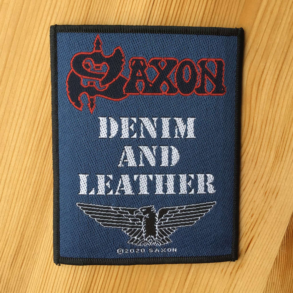 Saxon - Denim and Leather (Woven Patch)
