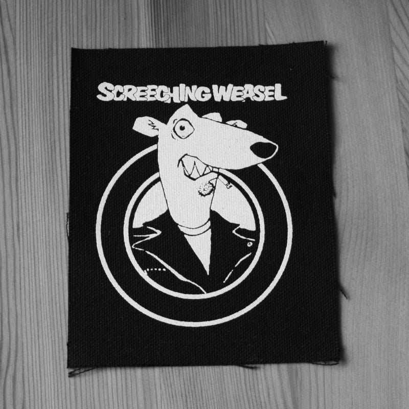 Screeching Weasel - White Logo (Printed Patch)