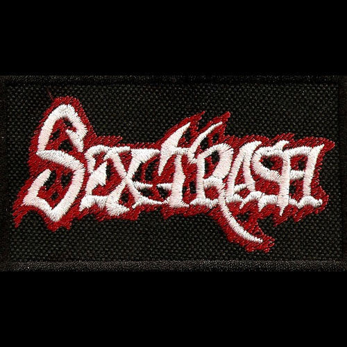 Sextrash - White & Red Logo (Embroidered Patch)