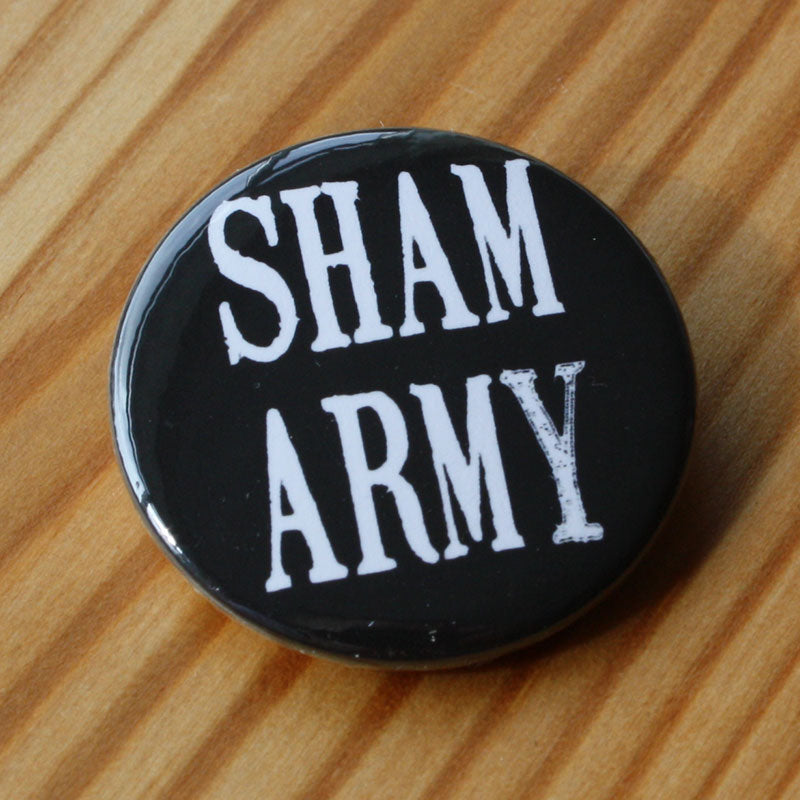 Sham 69 - Sham Army (White) (Badge)