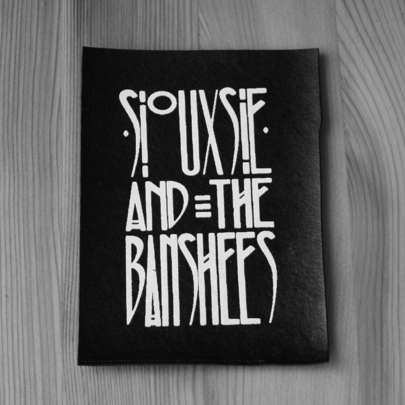Siouxsie and the Banshees - White Logo (Leather) (Printed Patch)