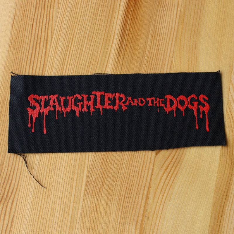 Slaughter and the Dogs - Red Logo (Printed Patch)