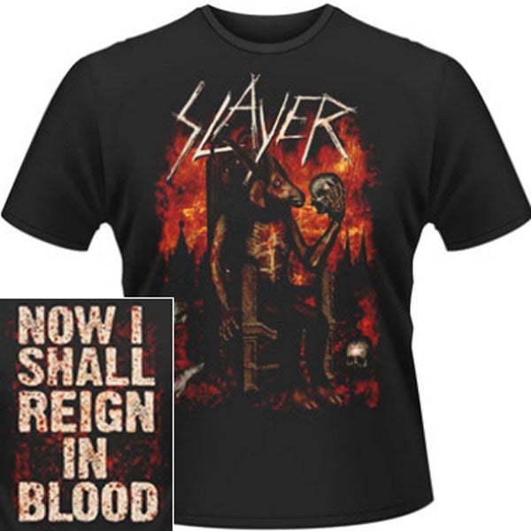 Slayer - Enthroned / Now I Shall Reign in Blood (T-Shirt)