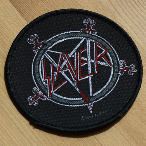 Slayer - Logo and Sword Pentagram (Woven Patch)