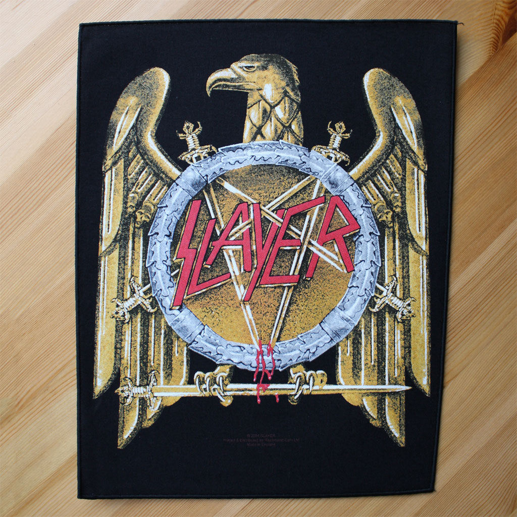 Slayer - Logo / Gold Eagle (Backpatch)