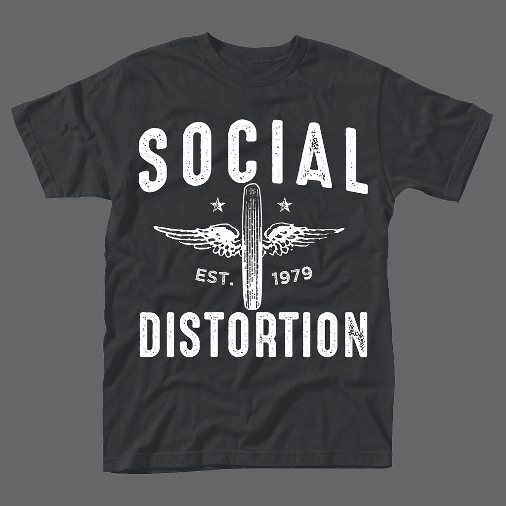 Social Distortion /'Winged Wheel/' T-Shirt NEW /& OFFICIAL!