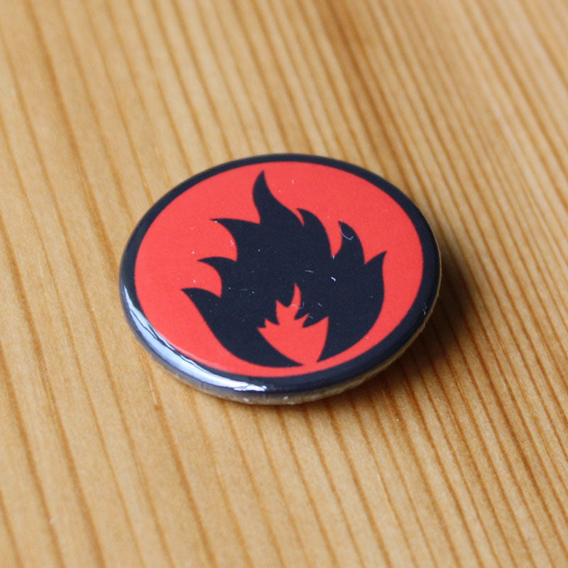 Stiff Little Fingers - Inflammable Material (Black) (Badge)