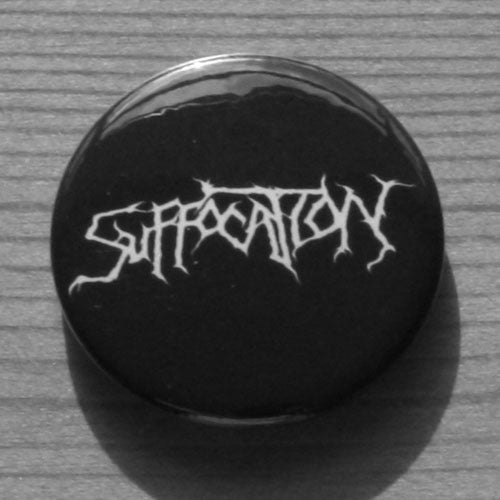Suffocation - White Logo (Badge)