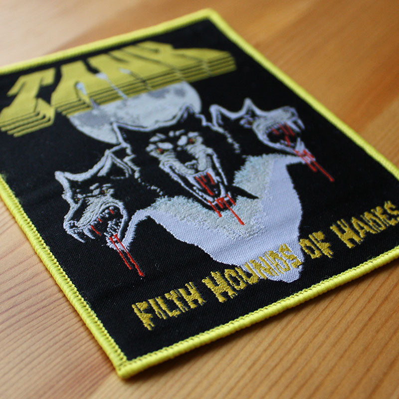 Tank - Filth Hounds of Hades (Yellow Border) (Woven Patch)