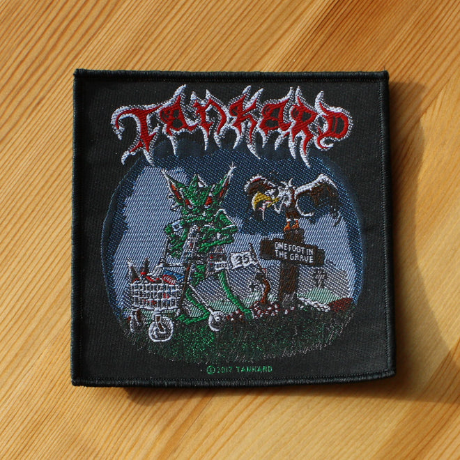 Tankard - One Foot in the Grave (Woven Patch)