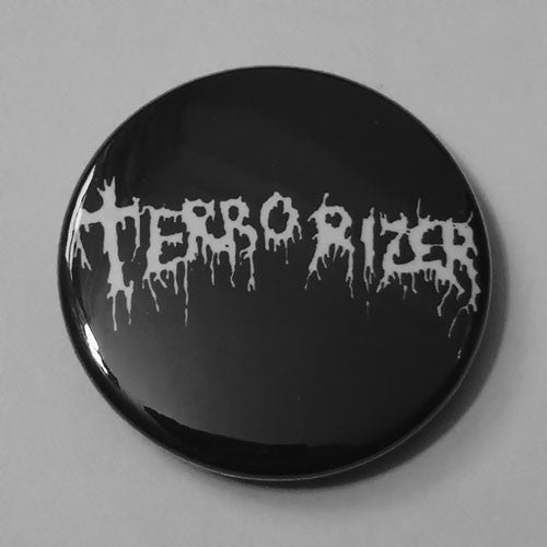 Terrorizer - White Logo (Badge)