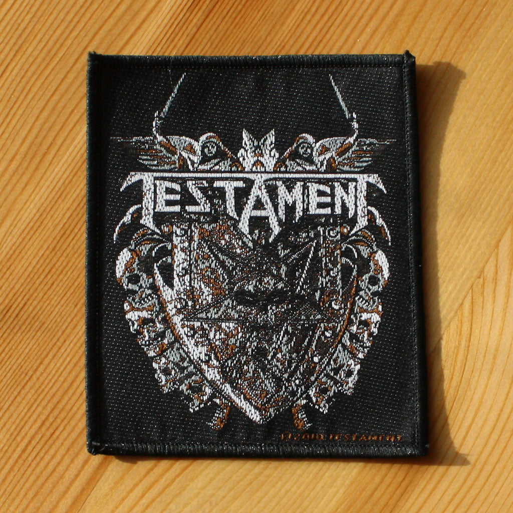 Testament - Logo & Pentagram Shield (Woven Patch)