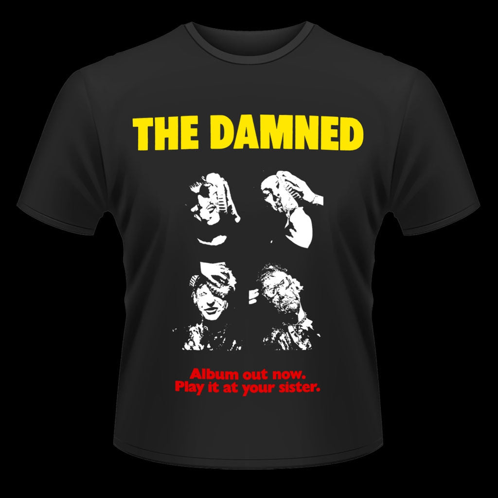 The Damned - Album Out Now, Play it At Your Sister (T-Shirt)