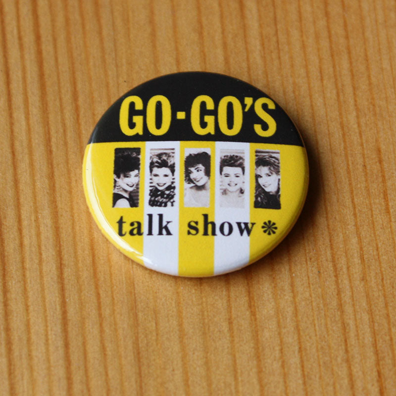 The Go-Go's - Talk Show (Yellow) (Badge)
