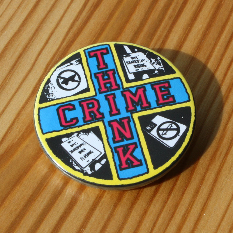 Think Crime (Yellow Border) (Badge)
