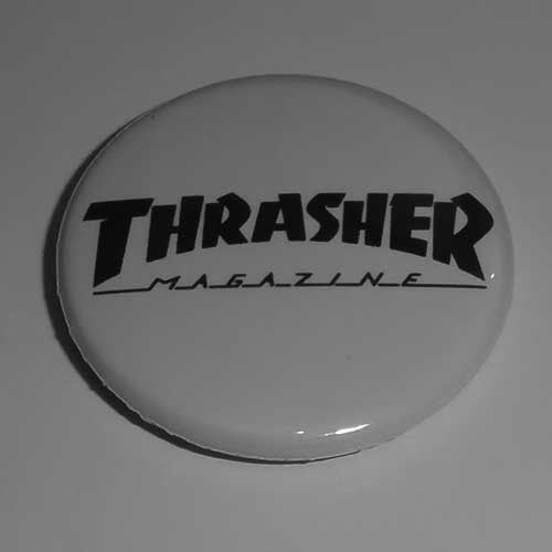 Thrasher Magazine Black Logo (Badge)