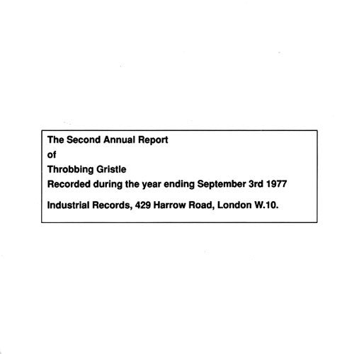 Throbbing Gristle - The Second Annual Report (CD)
