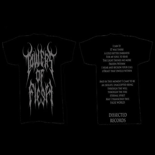 Towers of Flesh - Grey Logo (T-Shirt)