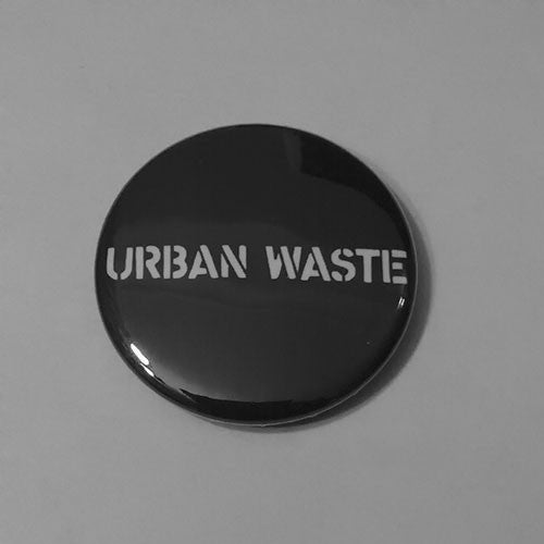 Urban Waste - White Stencil Logo (Badge)
