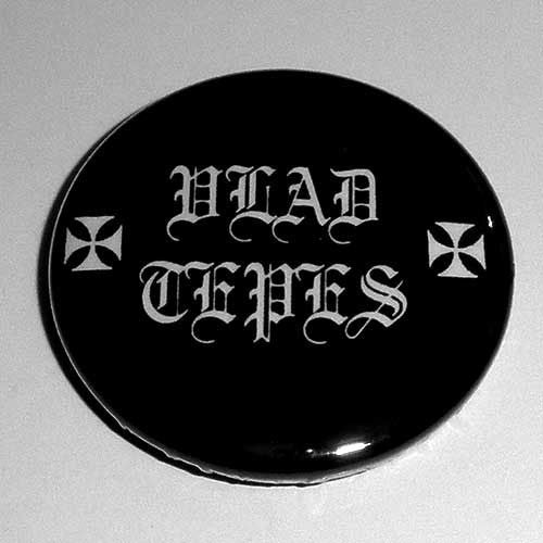 Vlad Tepes - White Old Logo (Badge)