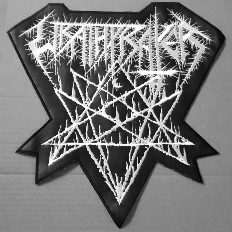 Wrathprayer - White Logo (Backpatch)