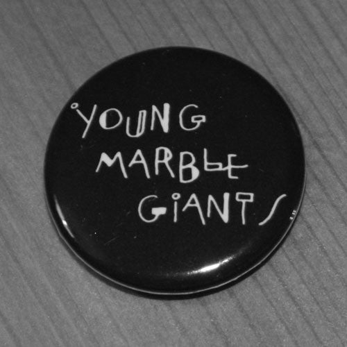 Young Marble Giants - White Logo (Badge)