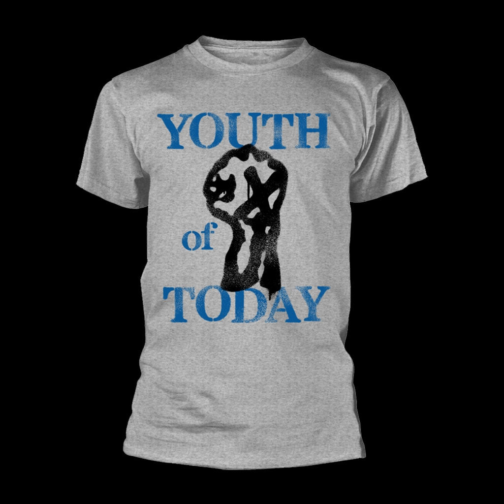 Youth of Today - Logo & Fist (Grey) (T-Shirt)