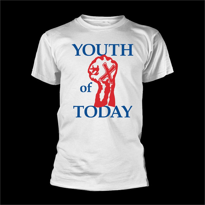 Youth of Today - Logo & Fist (White) (T-Shirt)