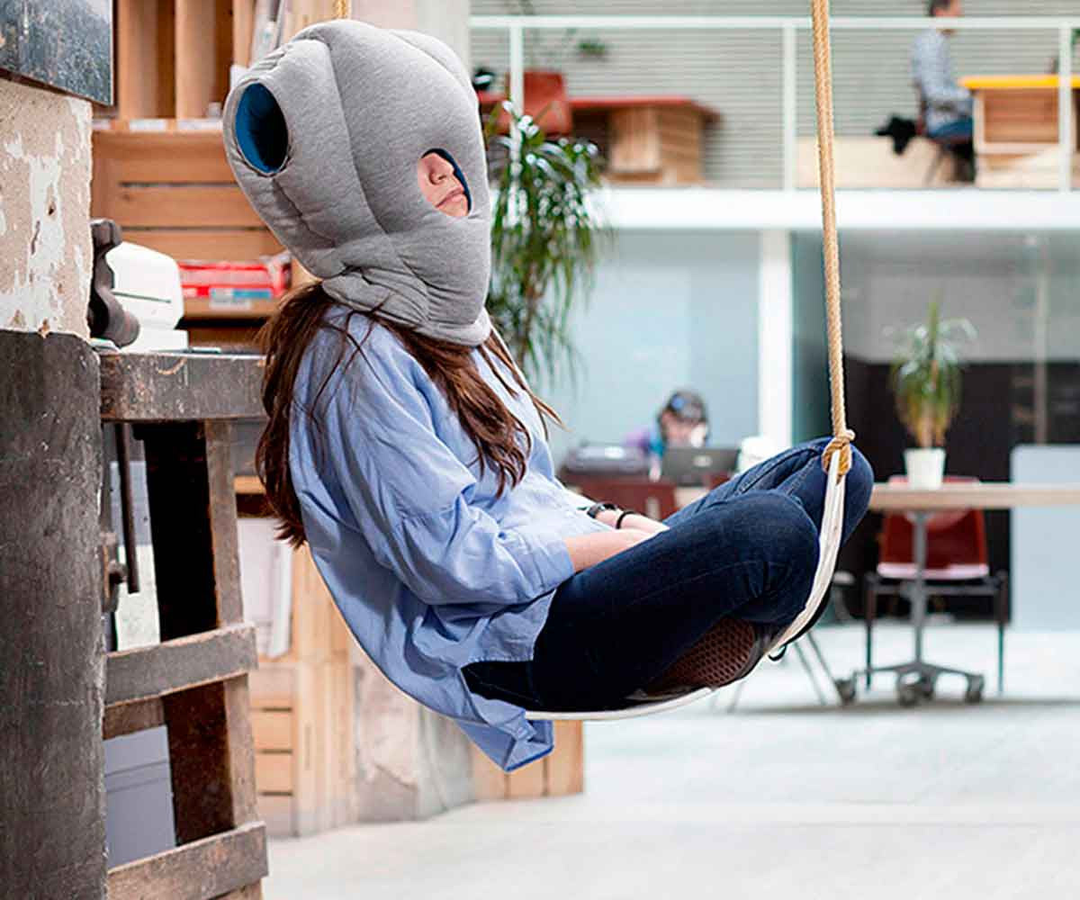 The Ostrich Pillow: Nap Anywhere, Anytime