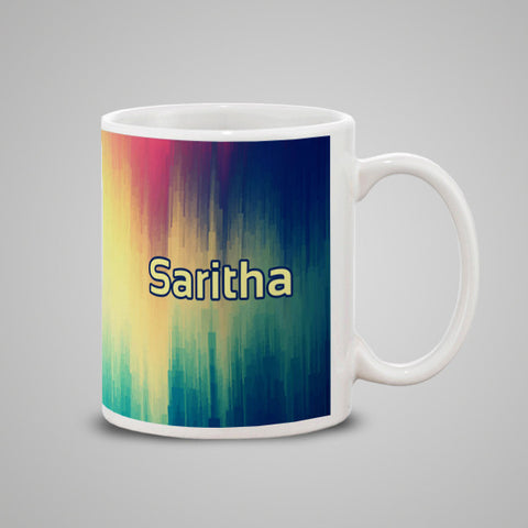 Multi Color Texture Mug