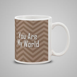 You are my World texture Mug